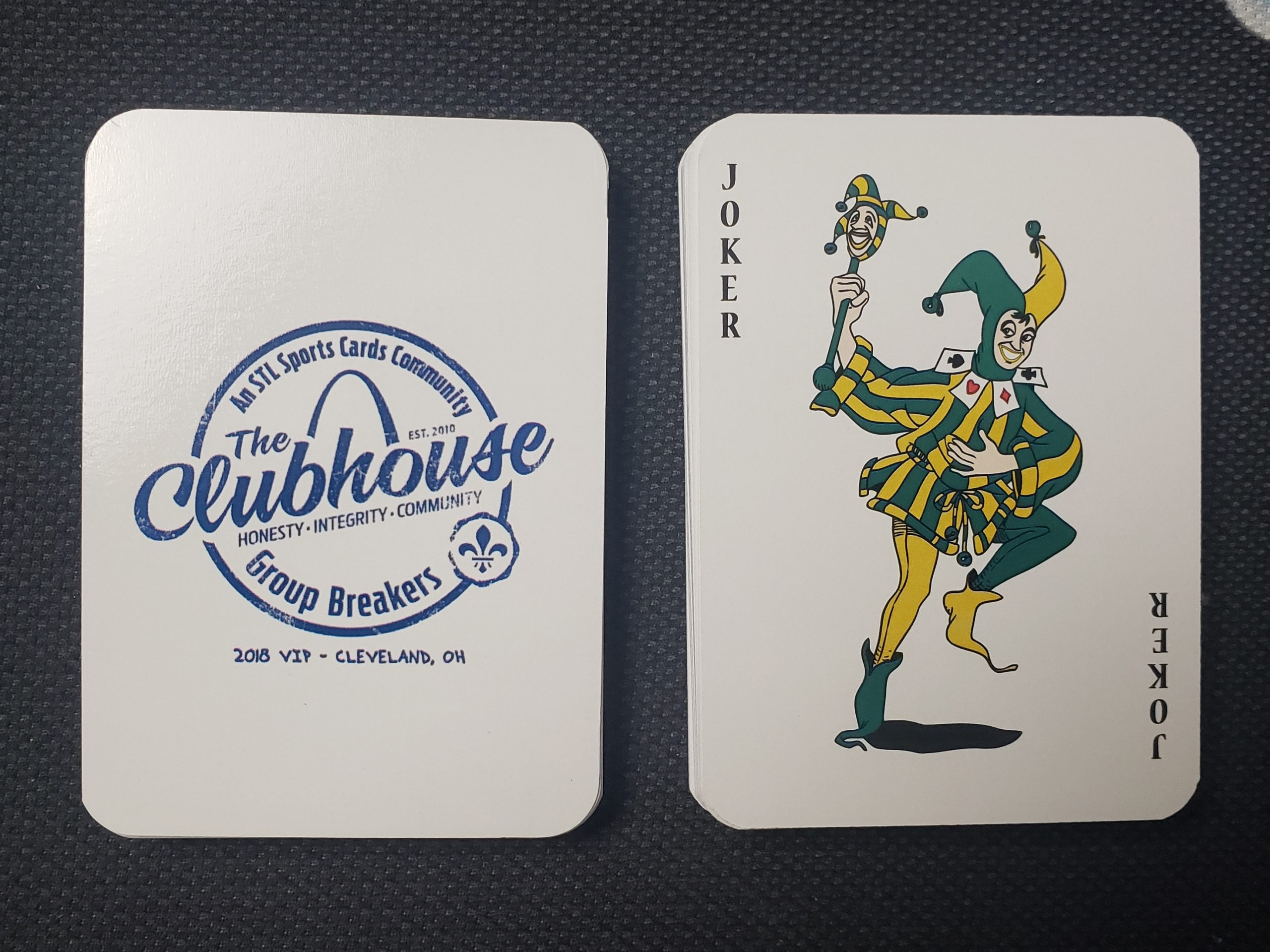 THE CLUBHOUSE 2018 VIP PARTY DECK OF PLAYING CARDS