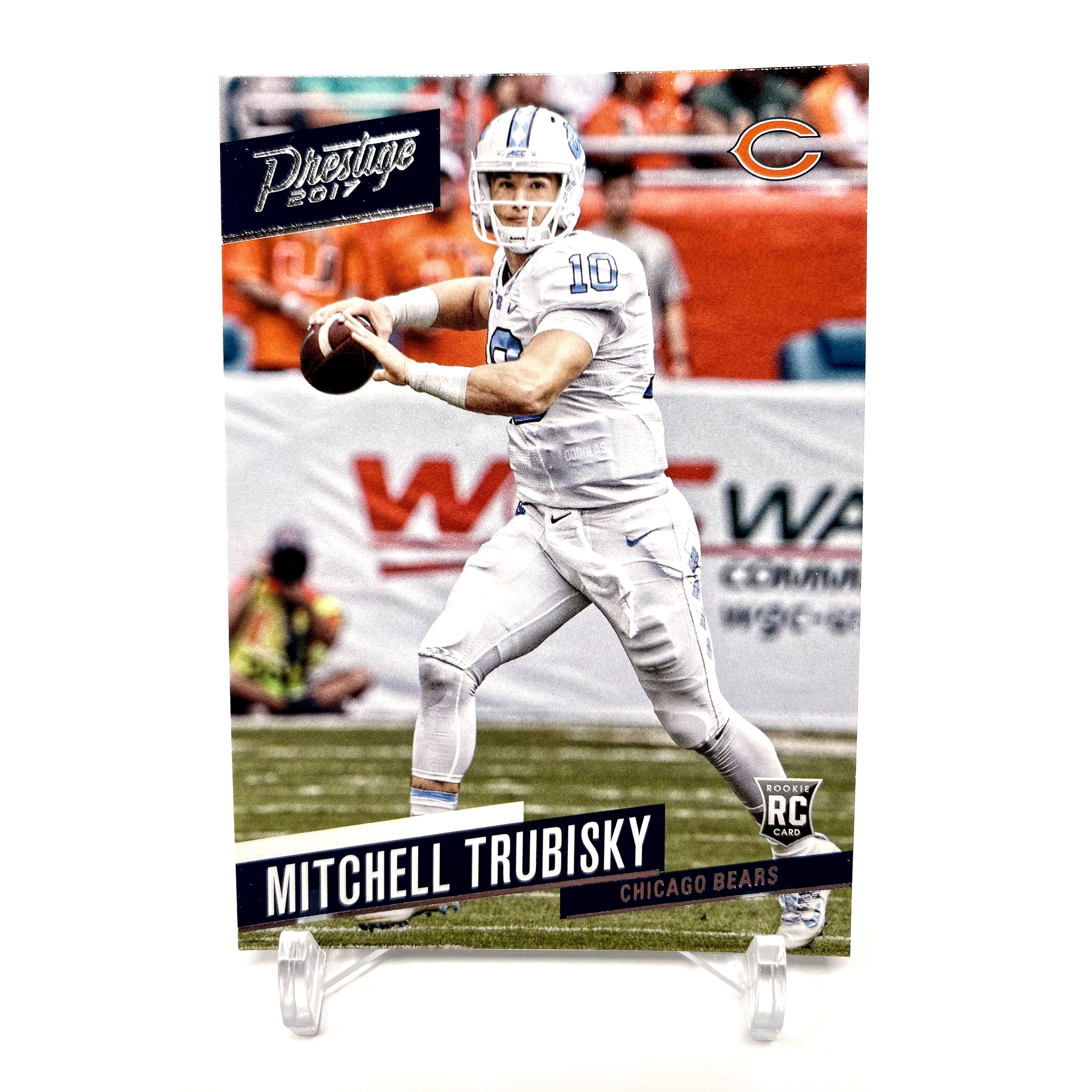 2017 Panini Prestige Mitchell Trubisky Rookie Card Chicago Bears