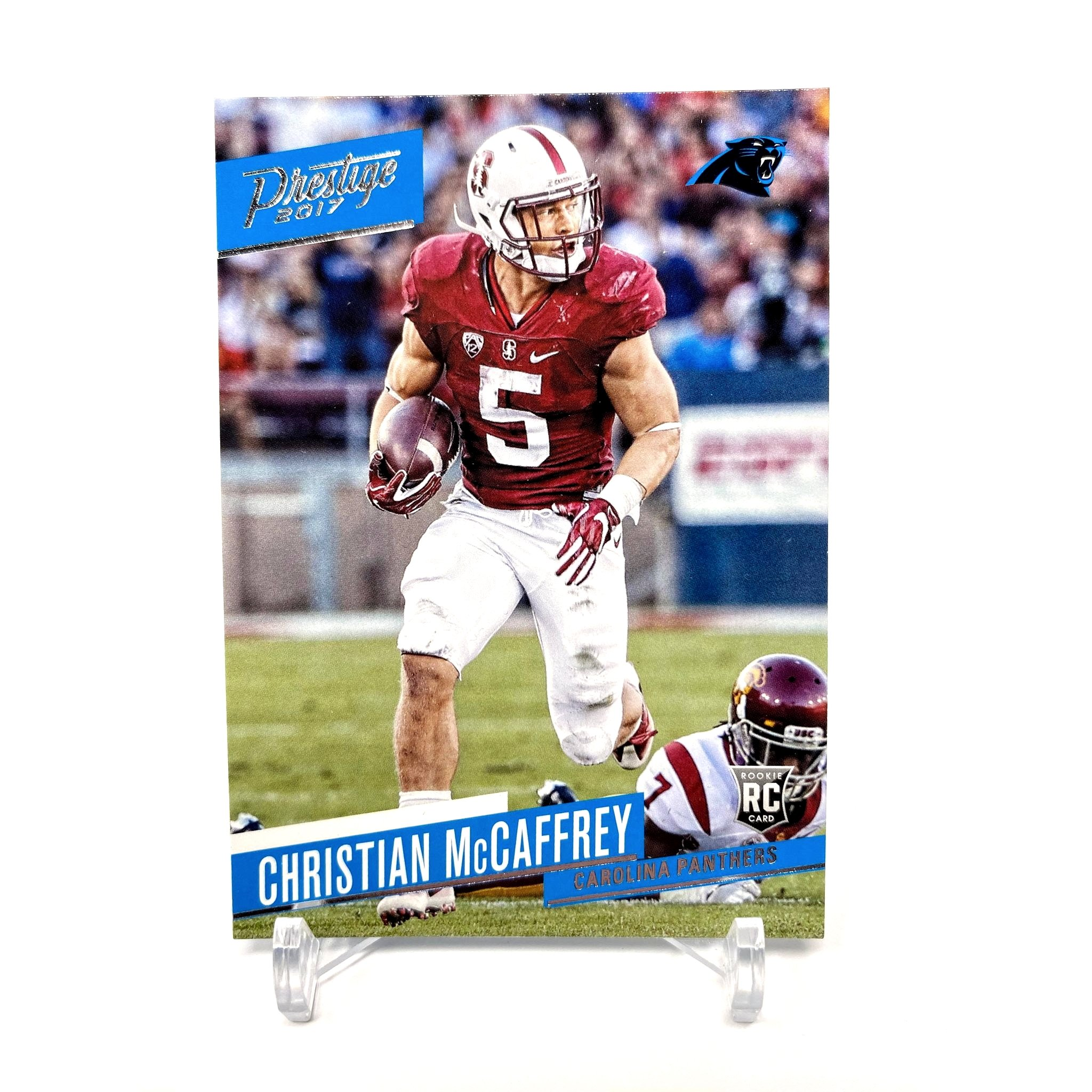 2017 Panini Prestige Christian McCaffrey Rookie Card Carolina Panthers