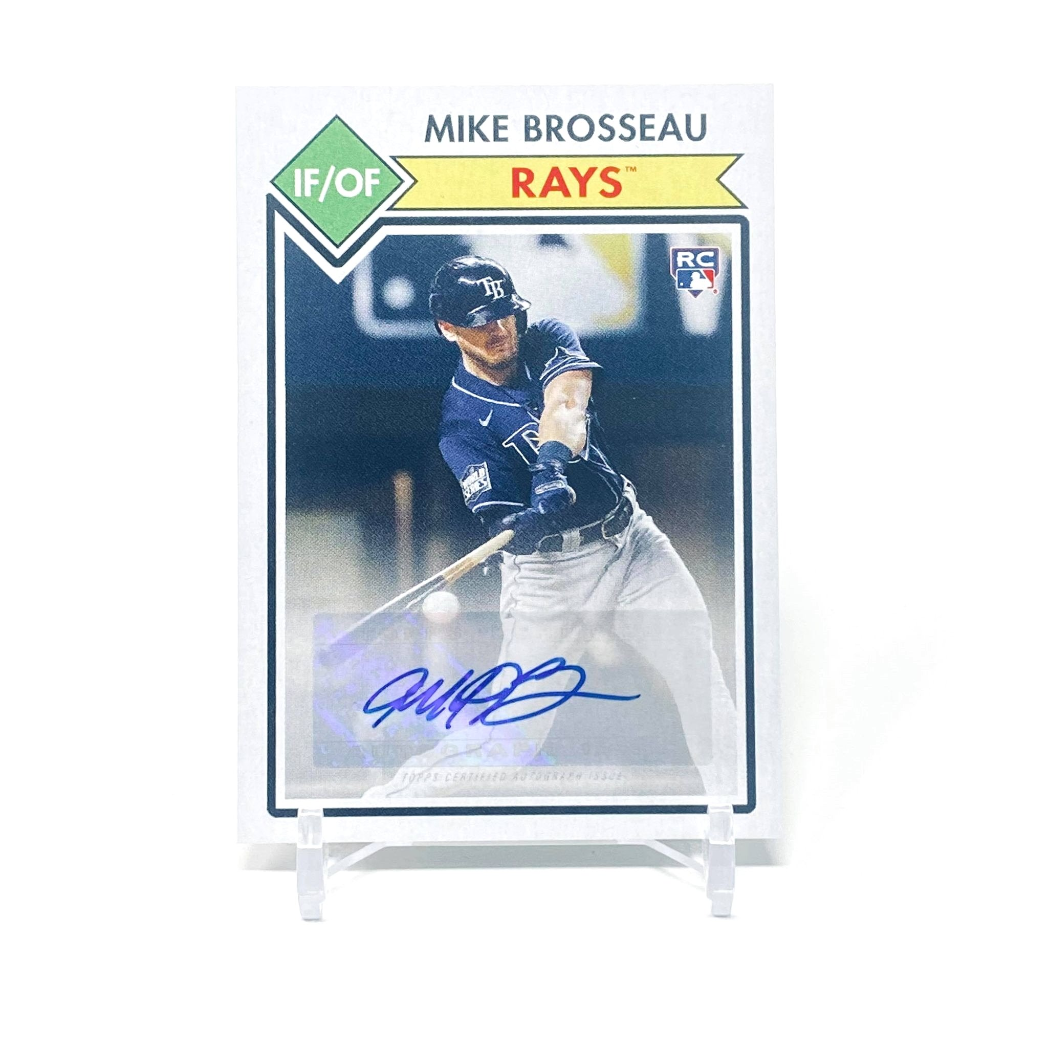 2021 Topps 582 Montgomery Club Mike Brosseau Rookie Autograph Tampa Bay Rays