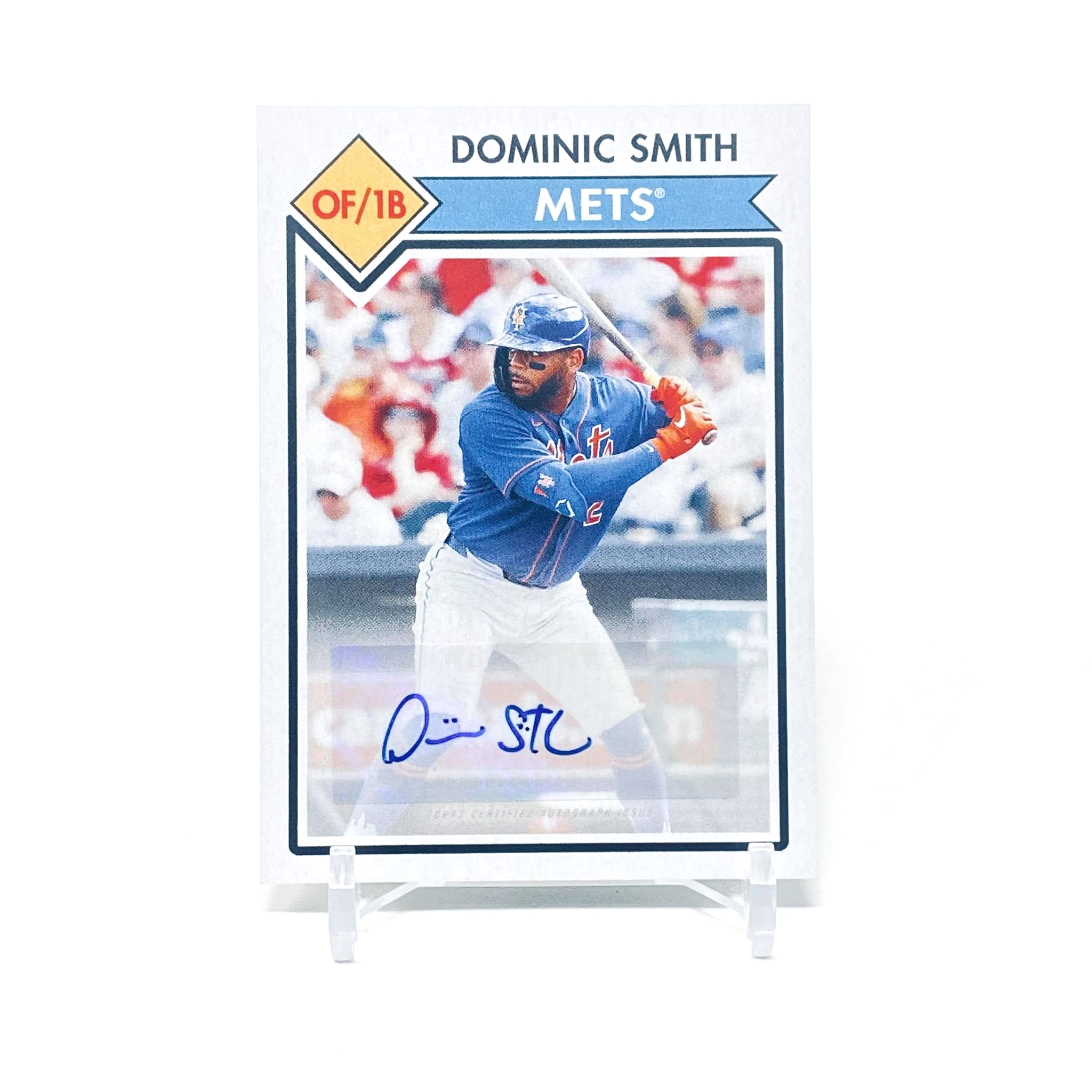 2021 Topps 582 Montgomery Club Dominic Smith Autograph New York Mets