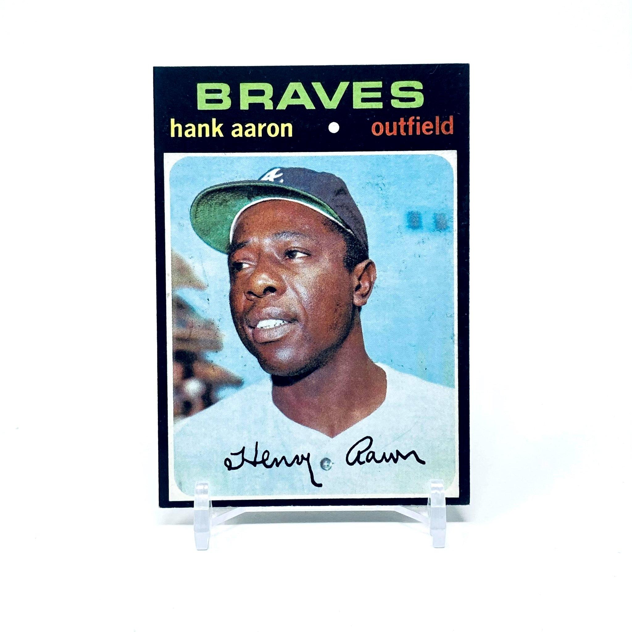 1971 Topps Hank Aaron Atlanta Braves