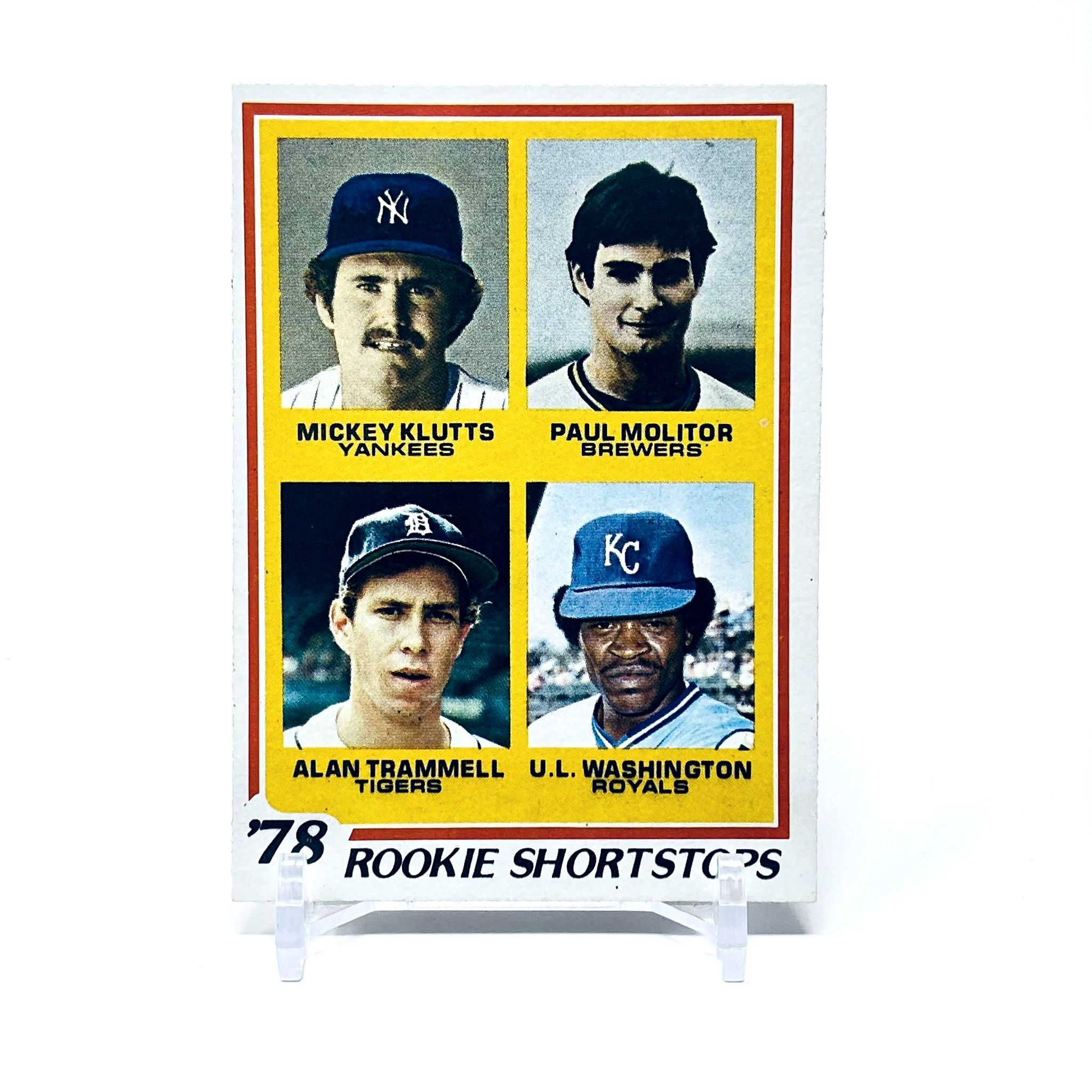 1978 Topps Molitor, Trammell, Klutts, Washington Rookie Shortstops