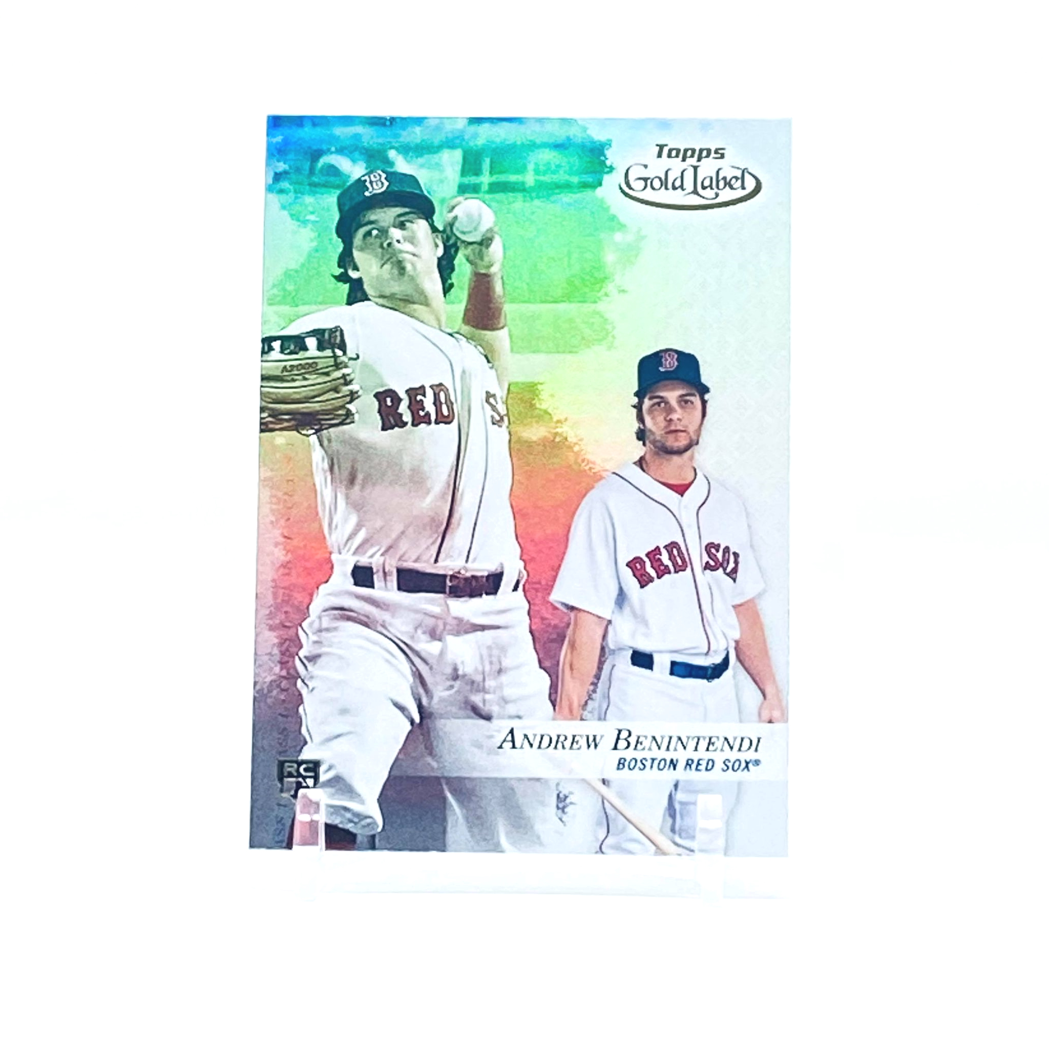 2017 Topps Gold Label Class 1 Andrew Benintendi Rookie Card Boston Red Sox