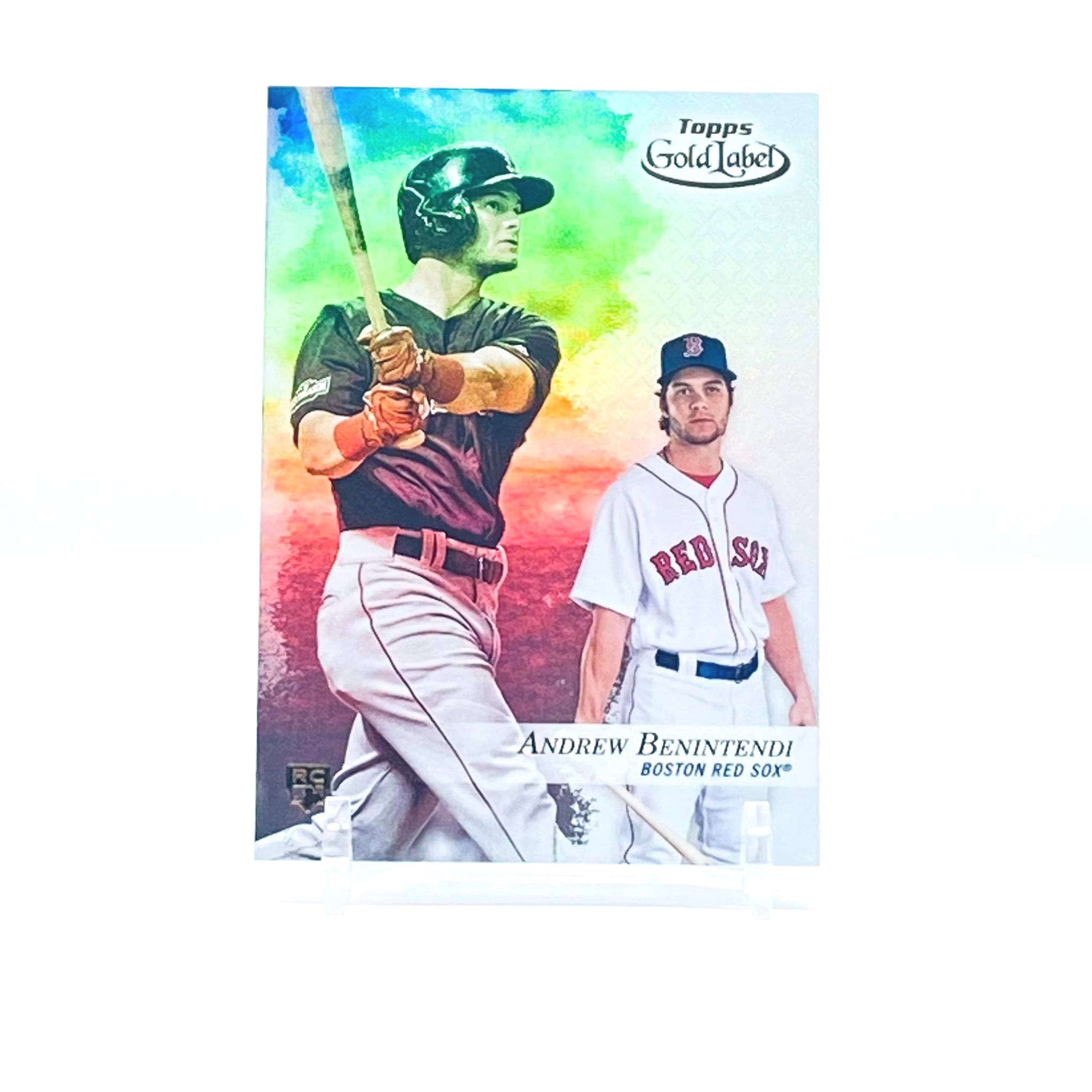2017 Topps Gold Label Class 2 Andrew Benintendi Rookie Card Boston Red Sox