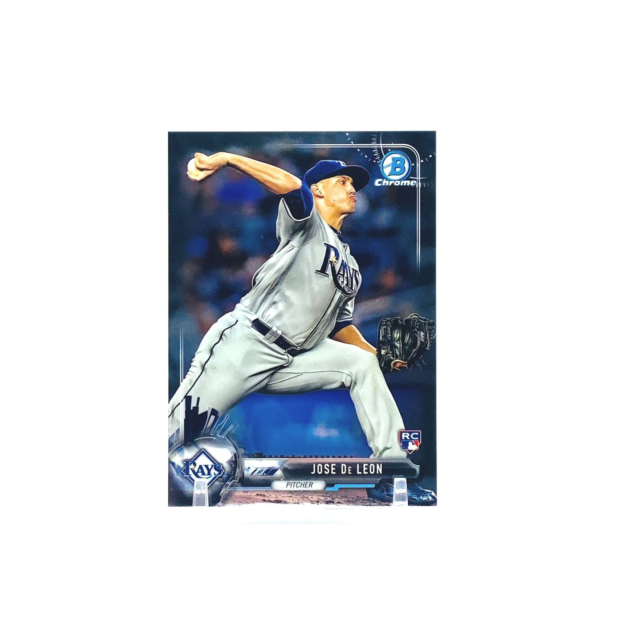 2017 Bowman Chrome Jose De Leon Photo Variation Rookie Card Tampa Bay Rays