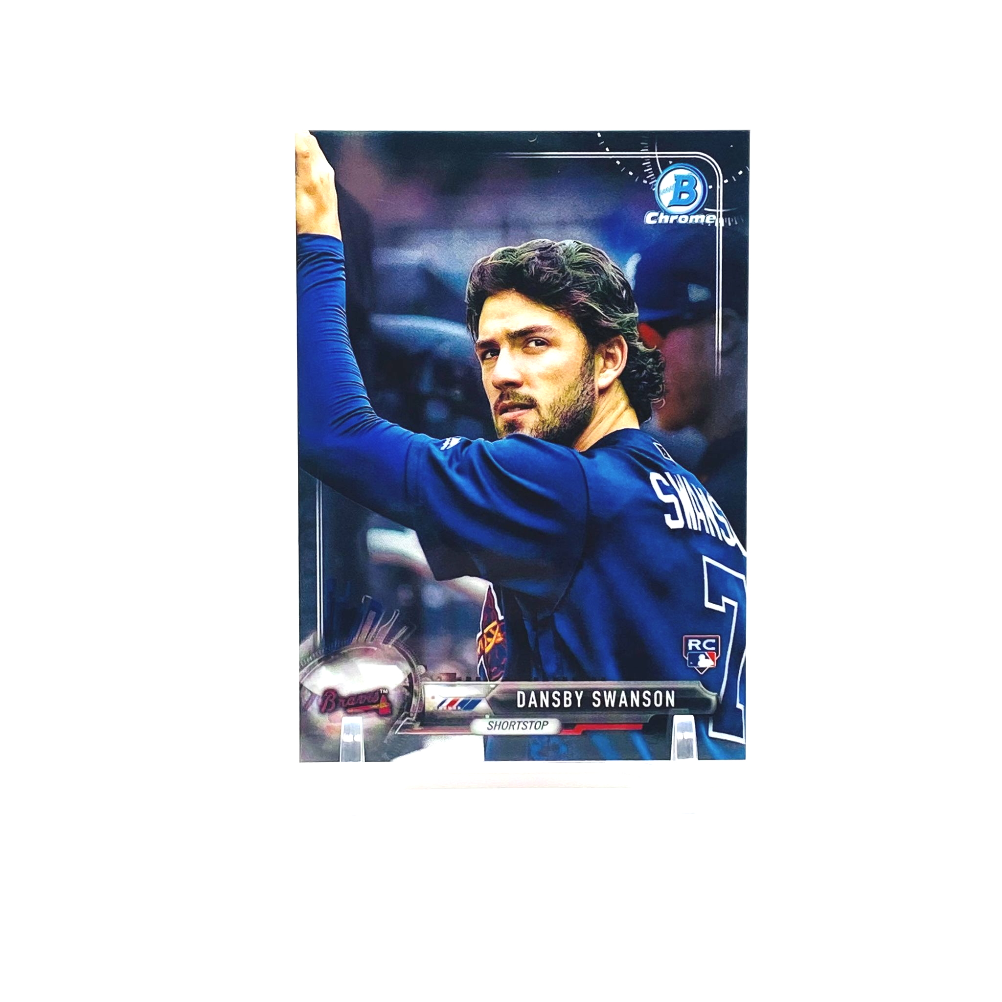 2017 Bowman Chrome Dansby Swanson Photo Variation Rookie Card Atlanta Braves