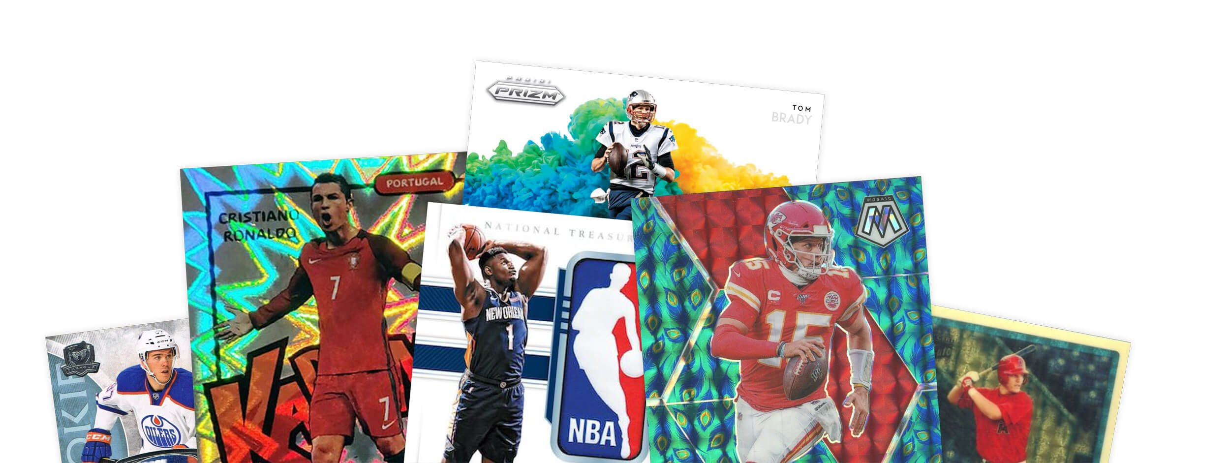 Array of sports cards
