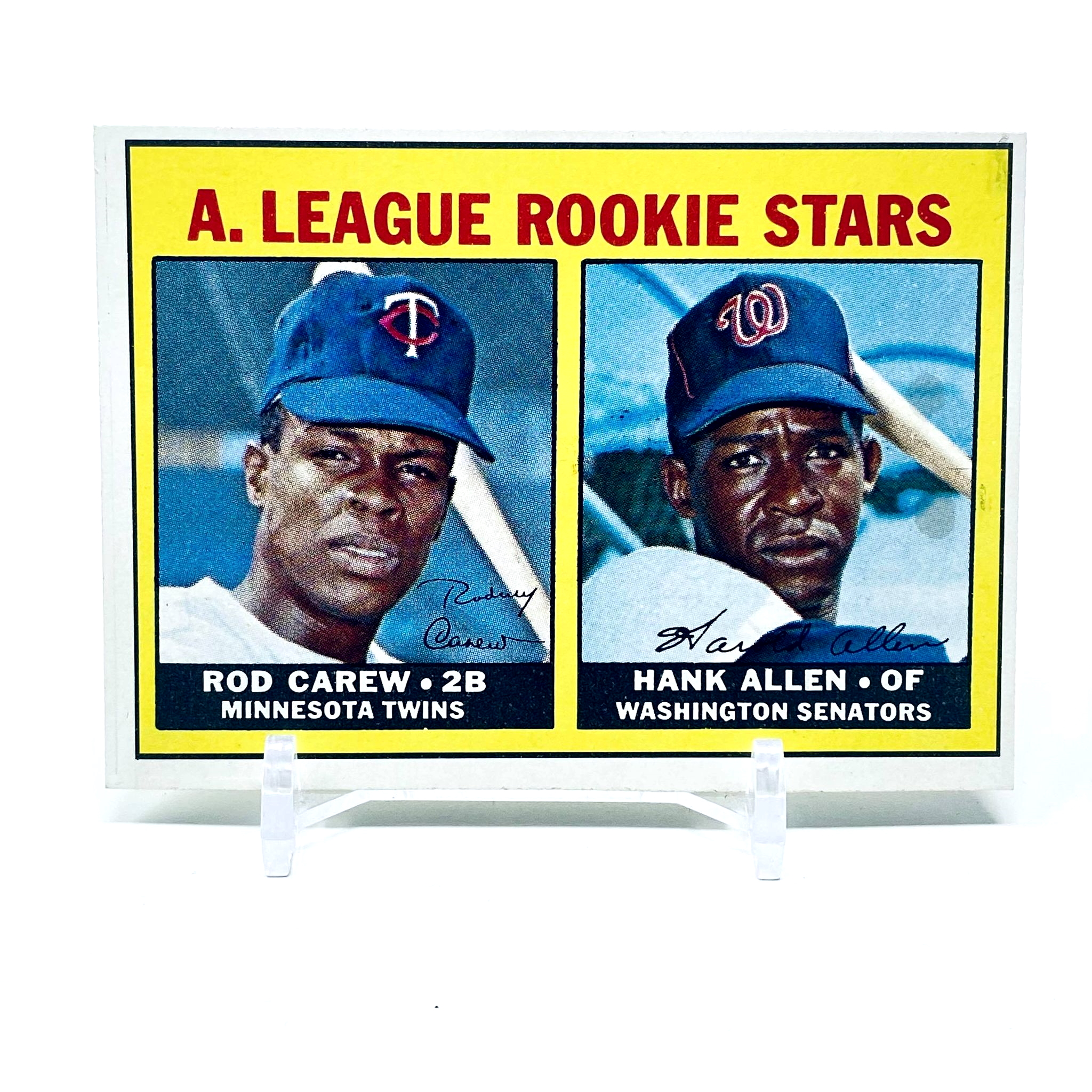 1967 Topps A.L. Rookies Rod Carew & Hank Allen