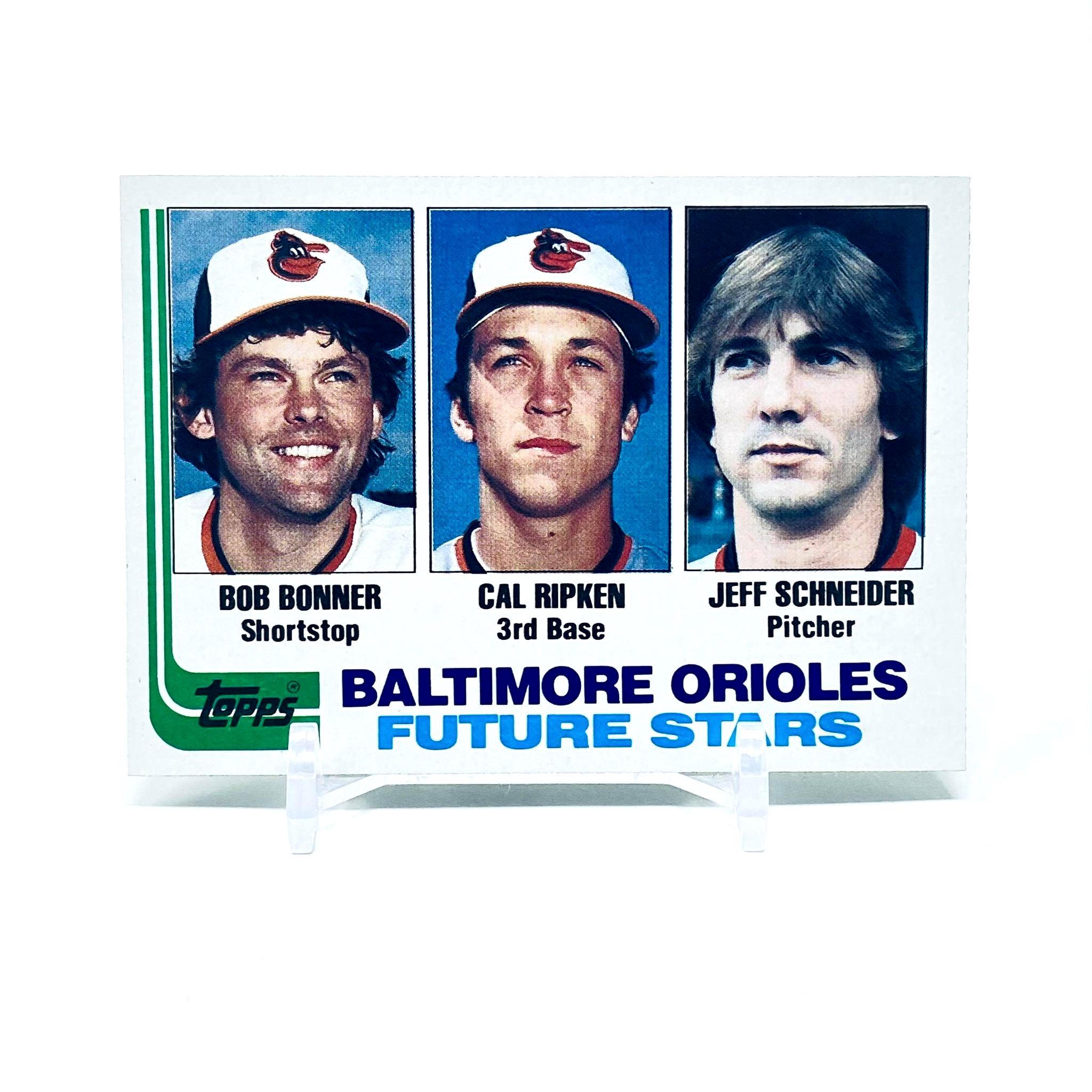 1982 Topps Future Stars Ripken, Bonner & Schneider Baltimore Orioles