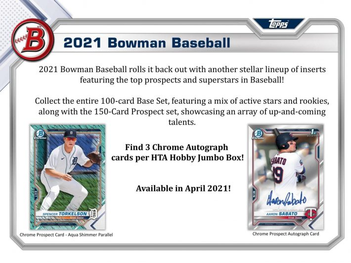 NO BRAINER : 2021 Bowman Jumbo 1/2 Case PICK YOUR PRICE Group Break #6246