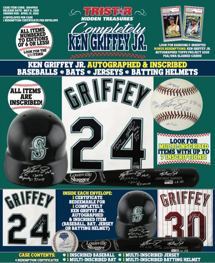 RARE RELEASE : 2021 Completely Ken Griffey Jr. Case RANDOM HIT Group Break #6202 (Guaranteed Hit)