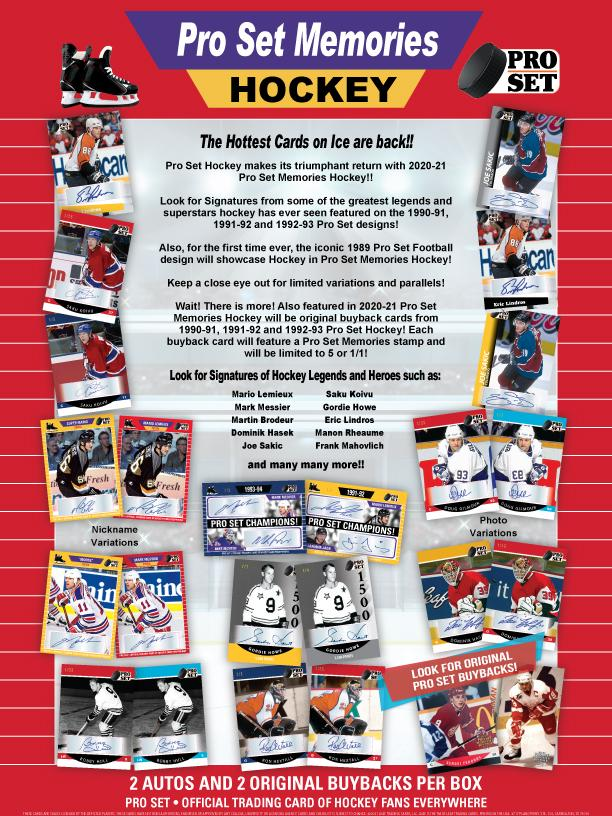 RELEASE DAY : 2021 Pro Set Memories Hockey Case RANDOM HIT Group Break #6797 (2 GUARANTEED CARDS)