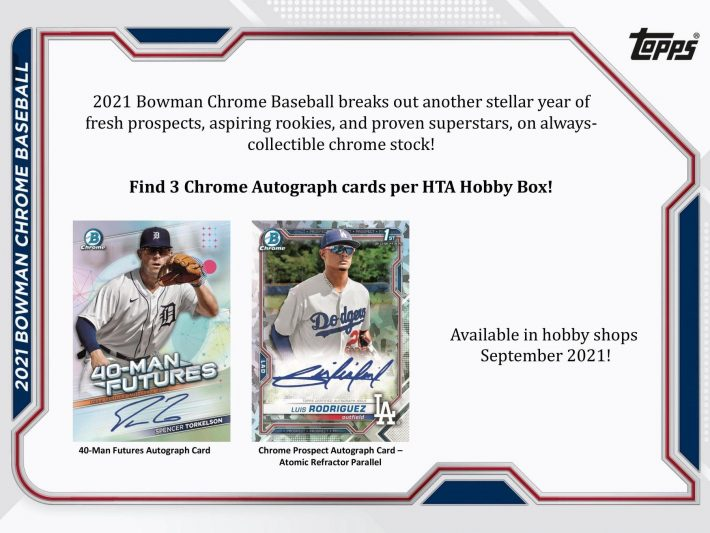 RELEASE DAY : 2021 Bowman Chrome HTA Baseball Case PICK YOUR PRICE Group Break #6785